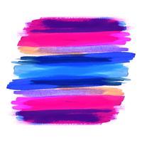 Hand tekenen kleurrijke aquarel slag ontwerp achtergrond vector