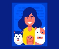 Hond familie illustratie