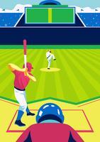 Honkbal Park Speler vector