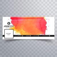 Abstract facebook tijdlijn voorbladsjabloon vector