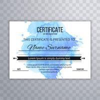 Abstracte certificaat ontwerpsjabloon vector
