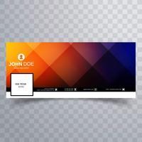 Kleurrijk tijdlijn cover template design van Facebook vector