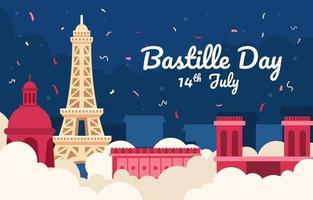 bastille-dag met eiffel vector