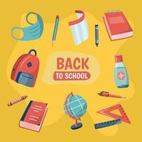 nieuwe normale school icoon collectie vector