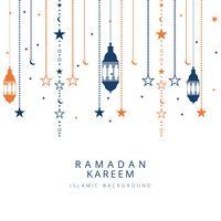 Ramadan Kareem islamitische achtergrond vector