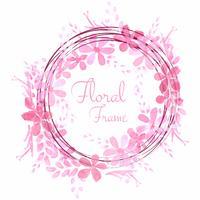 Abstracte bruiloft floral frame achtergrond vector