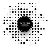 Moderne halftone gestippelde ontwerpvector vector