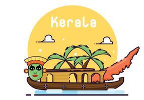 Bezoek Kerala Vector Art