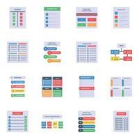 checklist-sjablonen plat vector