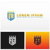 kleurovergang stijlvolle kleurrijke flg brief logo illustratie vector