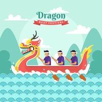 Dragon Boat Festival-viering vector