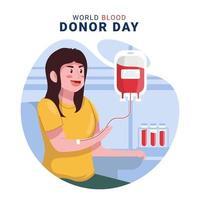 wereld bloeddonordag concept vector