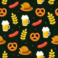 Oktoberfest elementen patroon vector