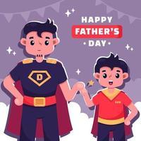 gelukkig vaderdag concept vector