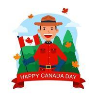 gelukkig ontwerp van de dag van Canada vector