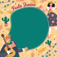 festa junina kleurrijke achtergrond vector