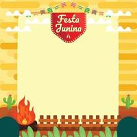 festa junina achtergrond sjabloon concept vector