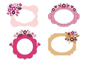 Bloemenpatroonvormige vectoren van het frame