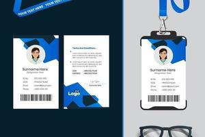 eenvoudig identiteitskaart-sjabloonontwerp met vector