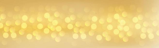 veelkleurige wazig bokeh op een gele achtergrond vector