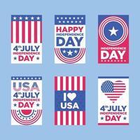 4 juli onafhankelijkheidsdag kaart vector