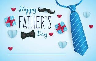 gelukkige vaderdag achtergrond vector