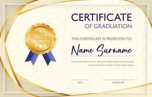 certificaat van afstudeersjabloon vector
