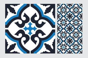 tegels Portugese patronen antiek naadloos ontwerp in vectorillustratie vector
