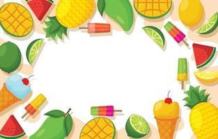zomer voedsel achtergrond vector