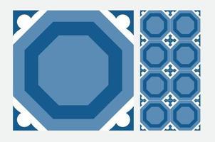 vintage tegels Portugese patronen antiek naadloos ontwerp in vectorillustratie vector