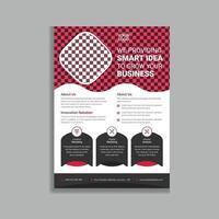 rode professionele en moderne zakelijke promotionele folder flyer sjabloonontwerp vector