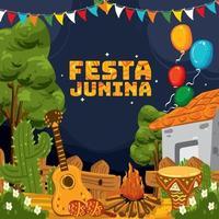 festa junina achtergrond concept vector
