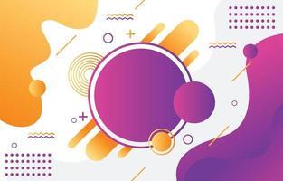 abstracte geometrische vorm kleurrijke gradiëntachtergrond vector