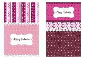 Valentijnsdag Behang Vector Tri-Pack