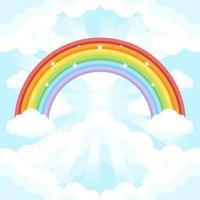 kleurrijke regenboog achtergrond vector
