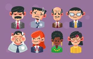 icoon van mensen op kantoor vector