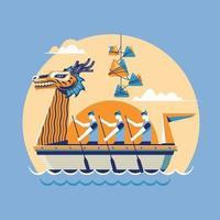 chinese drakenboot festival vectorillustratie vector