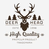 herten hoofd logo vector