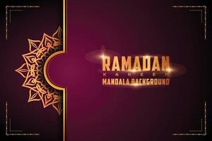 luxe sier mandala logo achtergrond arabesk stijl vector