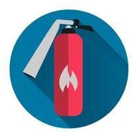 brandblusser pictogram met lange schaduw vector