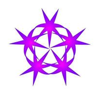 ster draaiende wervelingen cirkelvormige paarse kleur vector