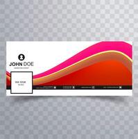 Moderne facebook tijdlijn voorbladsjabloon vector