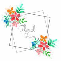 Moderne kleurrijke bloemenframe achtergrond vector