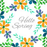 Moderne kleurrijke lente bloemen aquarel achtergrond vector
