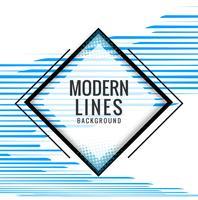 Moderne blauwe lijnenillustratie als achtergrond vector