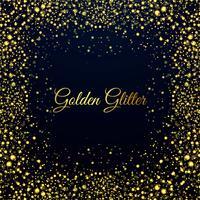 Mooie gouden glitters glanzende achtergrond vector