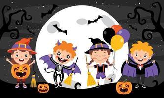 halloween-concept met grappig karakter vector