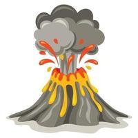vulkaanuitbarsting en lavatekening vector