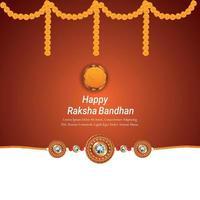 gelukkige raksha bandhan vieringsachtergrond met creatieve vectorillustratie van slingerbloem vector