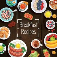 ontbijt recepten vector illustratie